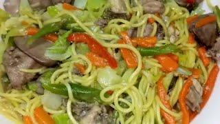 How to cook guisadong sariwang pancit (Vlog #9)
