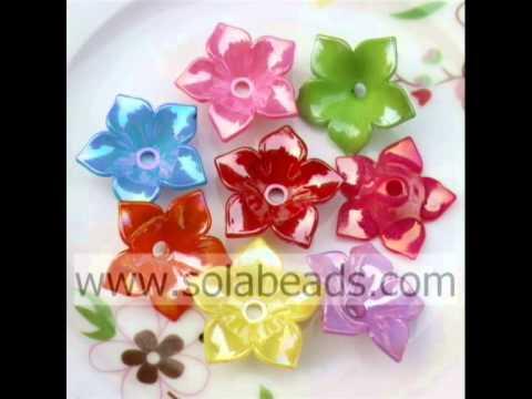 Flower Shape Acrylic Beads--- www.yybead