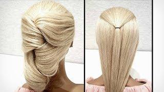 Быстрая прическа из резинок. Красивые прически пошагово. Fast hairstyle made of elastic bands.