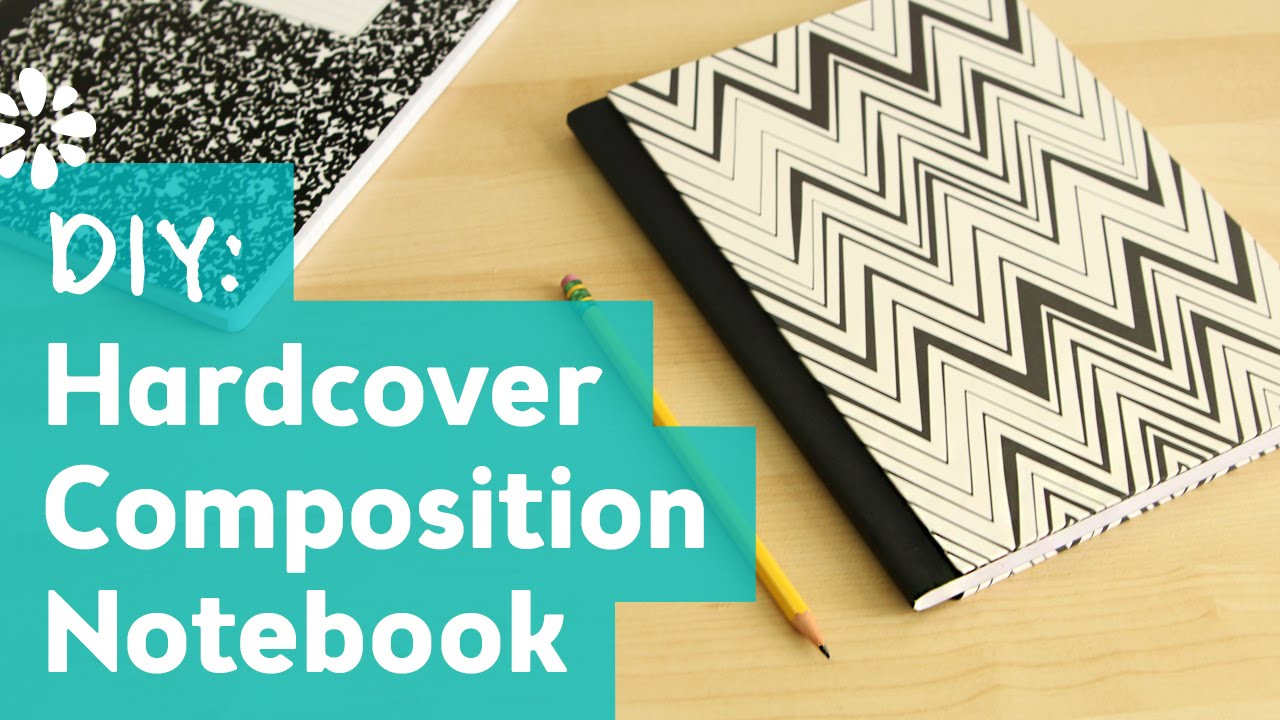 How To Make A Book Hardcover ~ Diy hardcover composition notebook sea lemon youtube
