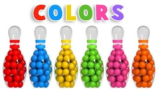 Colors For Children To Learn With 3d Bowling Game   Colours Videos Collection For Children
