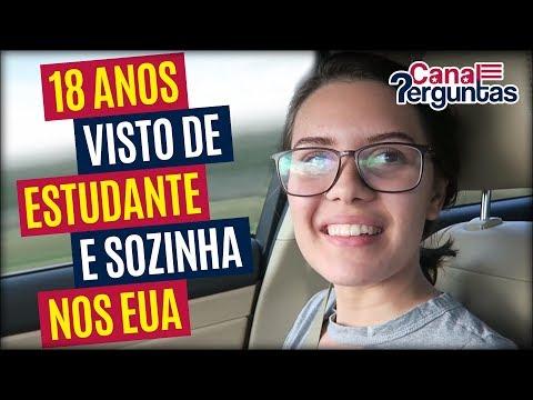 Sozinha aos 18 anos com visto de estudante nos EUA! ✔