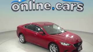 C97917TA Used 2017 Mazda 6 Touring Sedan Red Test Drive, Review, For Sale