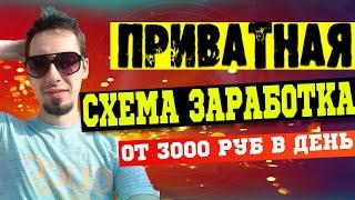 Схема заработка от 3000 рублей в день без вложений. Заработок без вложений