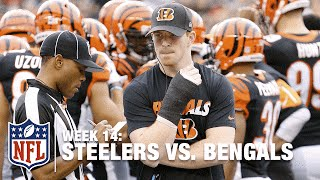 Andy Dalton Throws INT, Injures Right Thumb Tackling & Out of Game | Steelers vs. Bengals | NFL