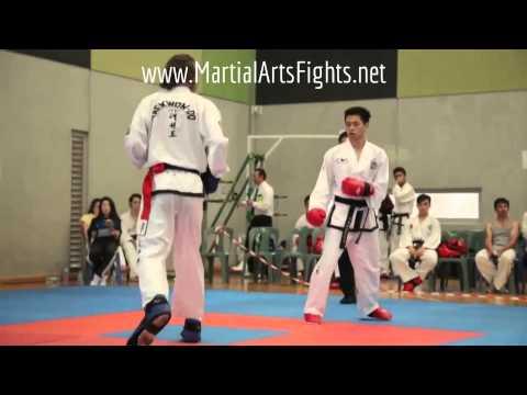 Taekwondo Spinning Kick Knockout KO