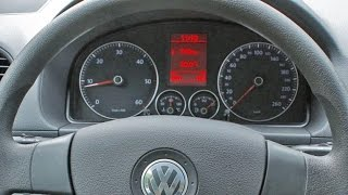Service light reset VW Caddy, in 4 steps