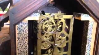 Antique Black Forest 8 Day Fusee Cuckoo Clock Movement After Restoration
