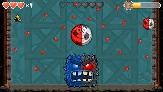 Red ball 4 (red & classic) soccer ball 'fusion battle' with blue & black boss volume 5