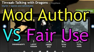 Skyrim Mod Author vs Fair Use & Free Speech - Tinvaak Talking with Dragons & Discrimination #WTFU
