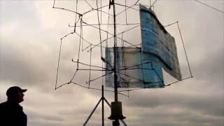 Самодельная вертикальная парусная ветроустановка