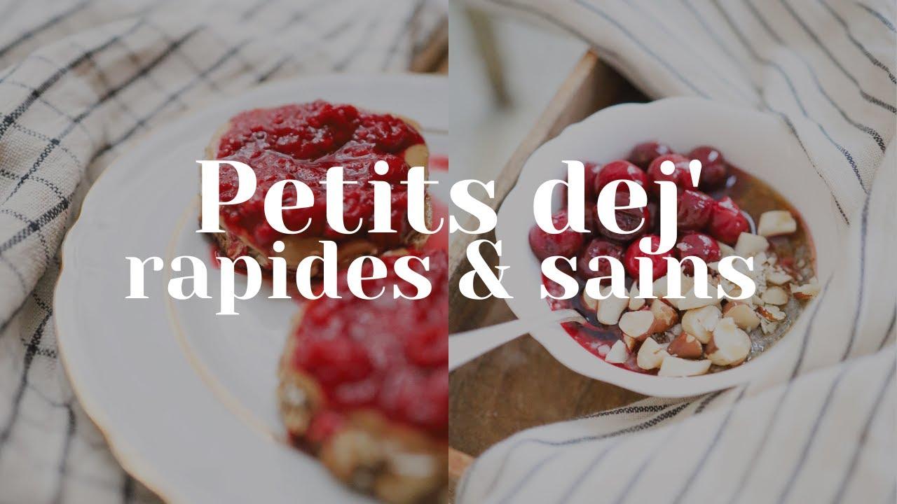 #RECETTE : 3 idées de petits déjeuners SAINS & RAPIDES !