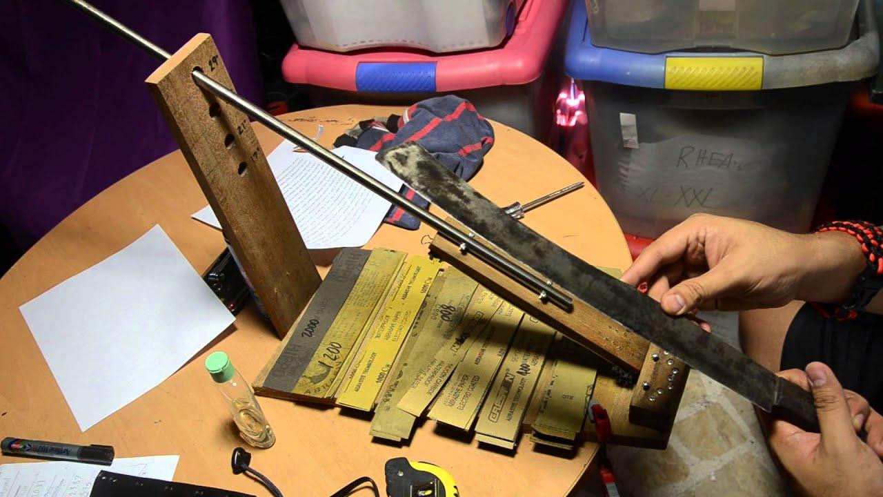 Diy Knife Sharpening System Jig Youtube
