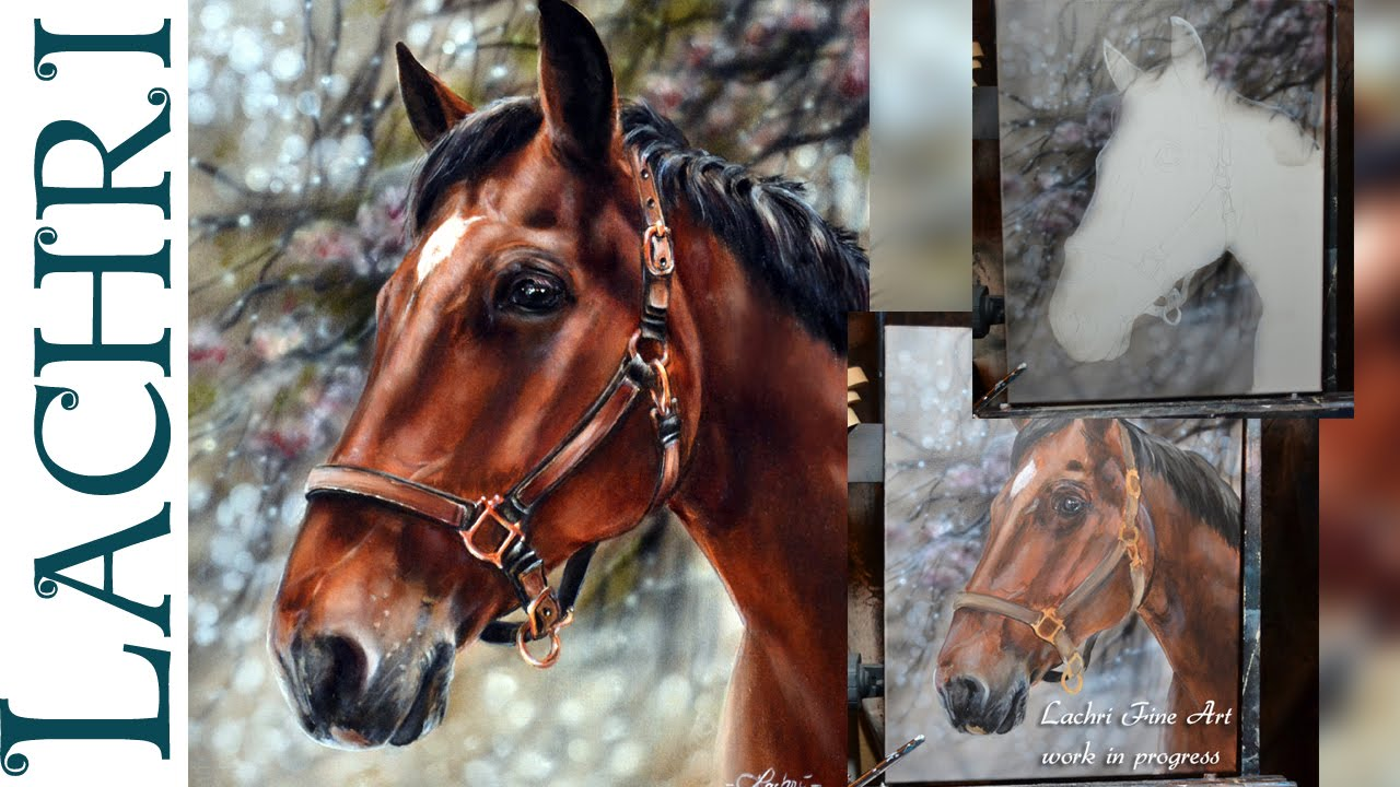 Speed Painting A Horse In Oil & Acrylic Paint  Time Lapse Demo By Lachri   Youtube