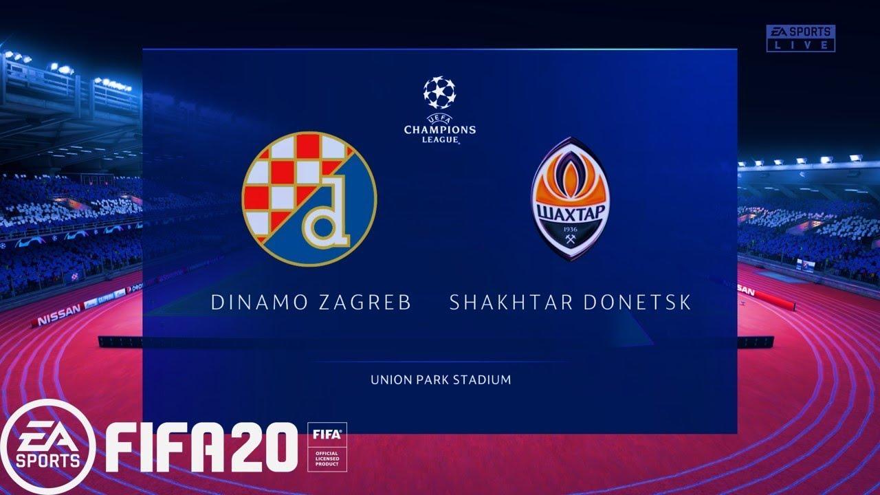 Fifa 20 Uefa Champions League 19 20 Dinamo Zagreb Vs Shakhtar Donetsk Gameplay Pc Youtube
