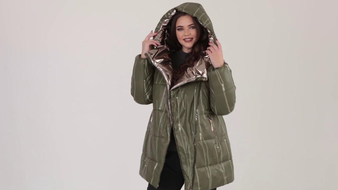 Зимняя куртка больших размеров коллекция верхней одежды Riches 2018/19