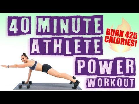 40 Minute Athlete Power Workout 🔥Burn 425 Calories! 🔥