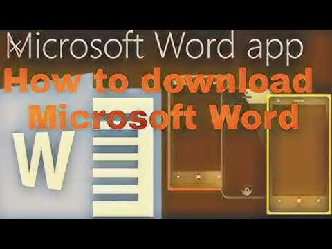 How to download  Microsoft Word  in android phone  and play  demo