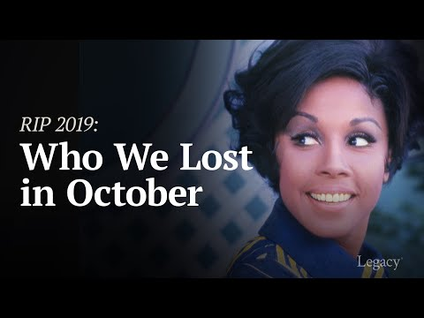 Legacy: R.I.P. Celebrities Who Died in October 2019