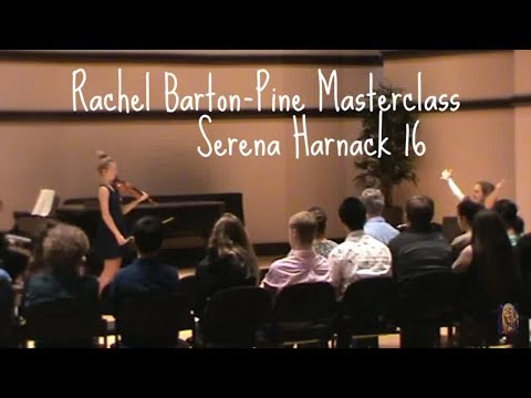 Rachel Barton-Pine Masterclass - Serena Harnack 16, Mozart Concerto No 4 in D