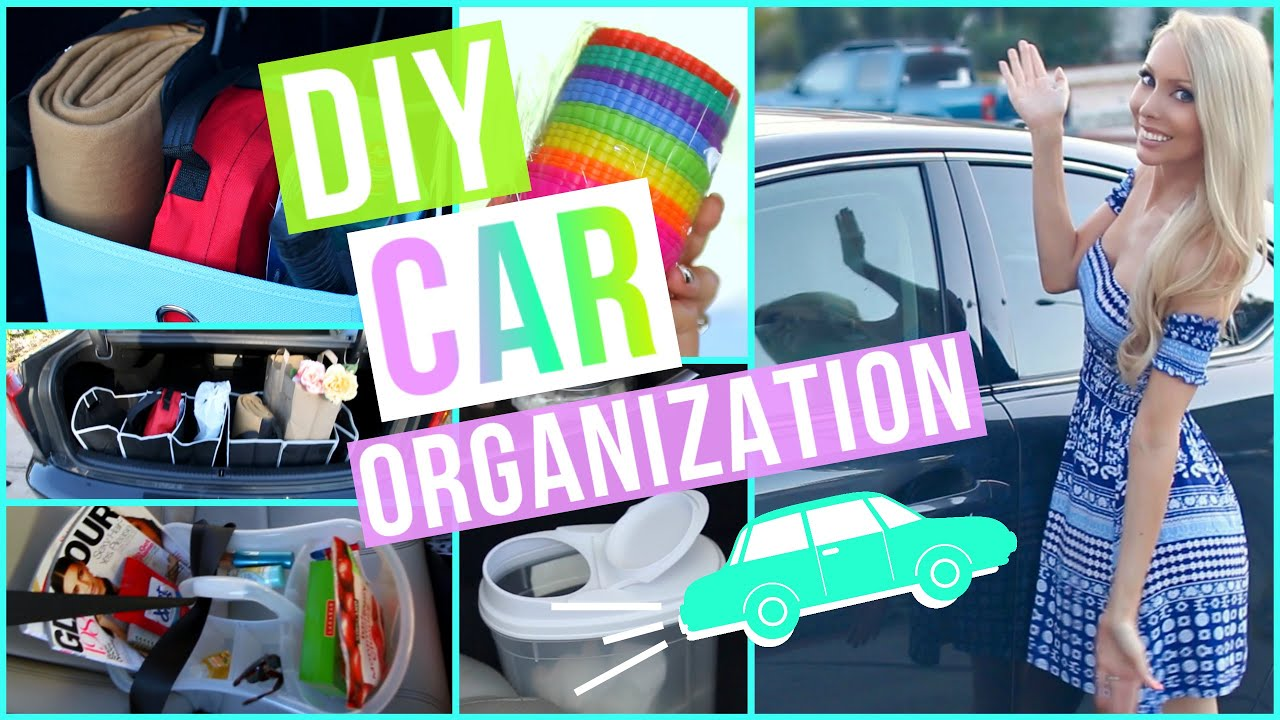 Diy car organization ideas youtube for How to decorate your car interior