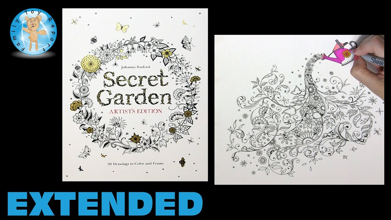 The secret garden coloring book barnes and noble - Secret Garden Artist S Edition Adult Coloring Book Watering Can Extended Family Toy Report