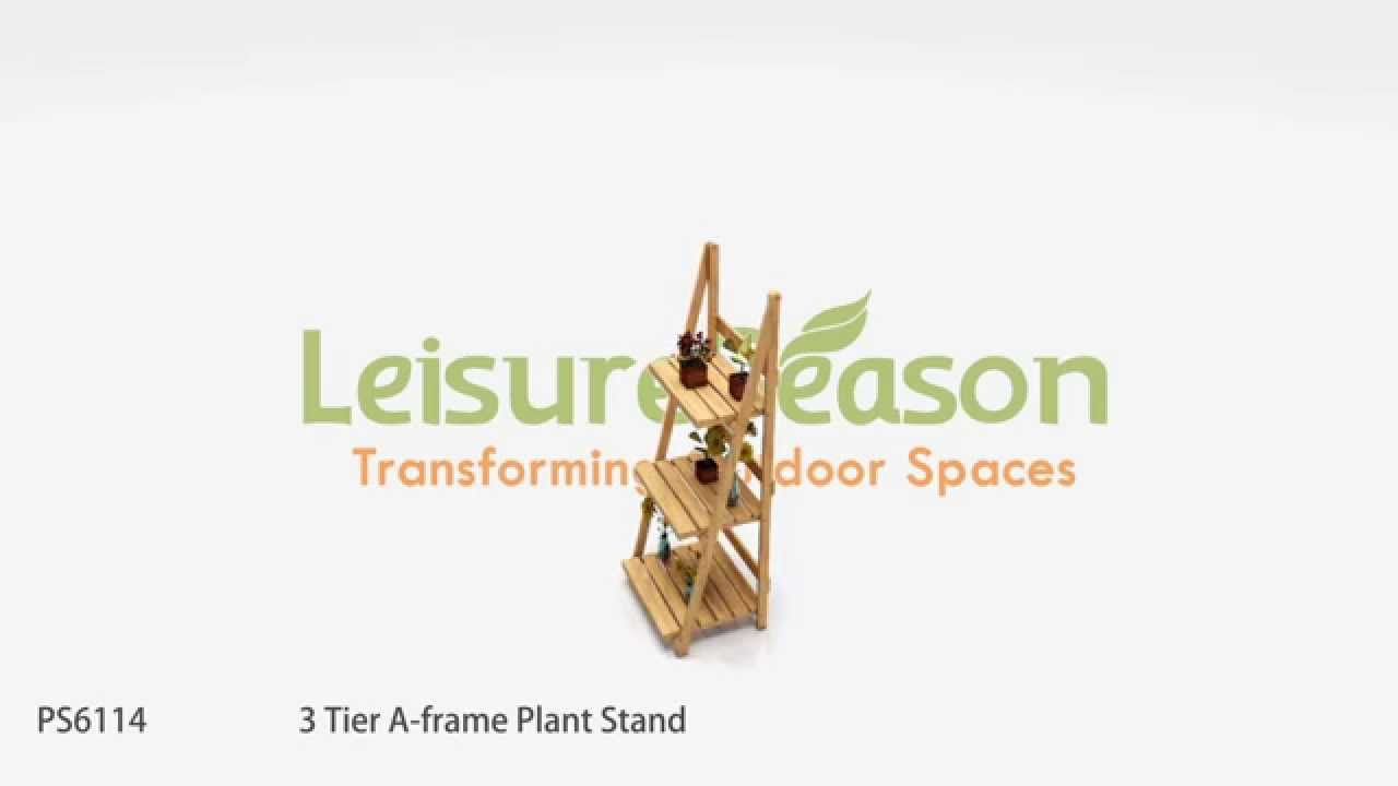 PS6114 3 Tier A-frame Plant Stand - YouTube