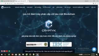 CRYPTYK ICO REVIEW - Lưu trữ đám mây phân cấp với bảo mật Blockchain