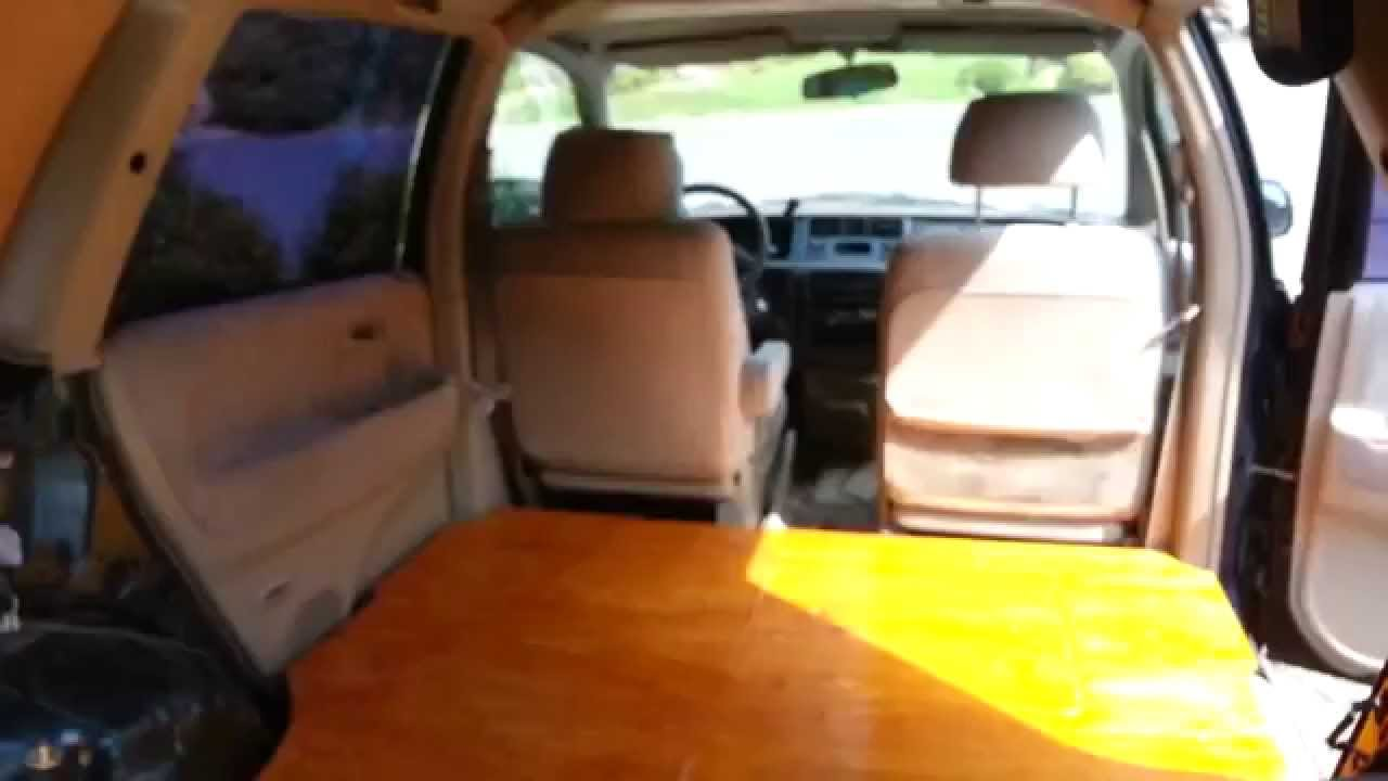 Hard Wood Floor In Honda Mini Van Camper Youtube