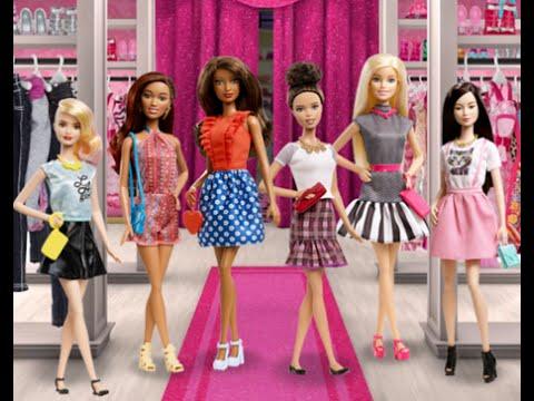 Barbie fashionistas dress up barbie dressing room - Barbie living room dress up games ...