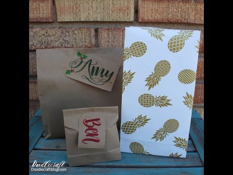 Handmade Gift Bags DIY From Wrapping Paper