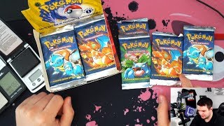 Pokemon 1st Edition Base Set Unboxing #4 - AUF EIN NEUES! :D - 5 Turtok Packs!
