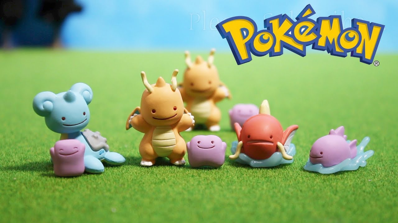 pokemontoy]figure collection transfection ditto ポケモン フィギュア
