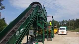видео линия сортировки  мусора