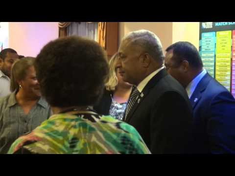 PM with Fijians in UK