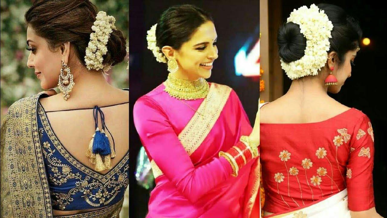Gajra hairstyle with Saree    gajra hairstyle for wedding - YouTube