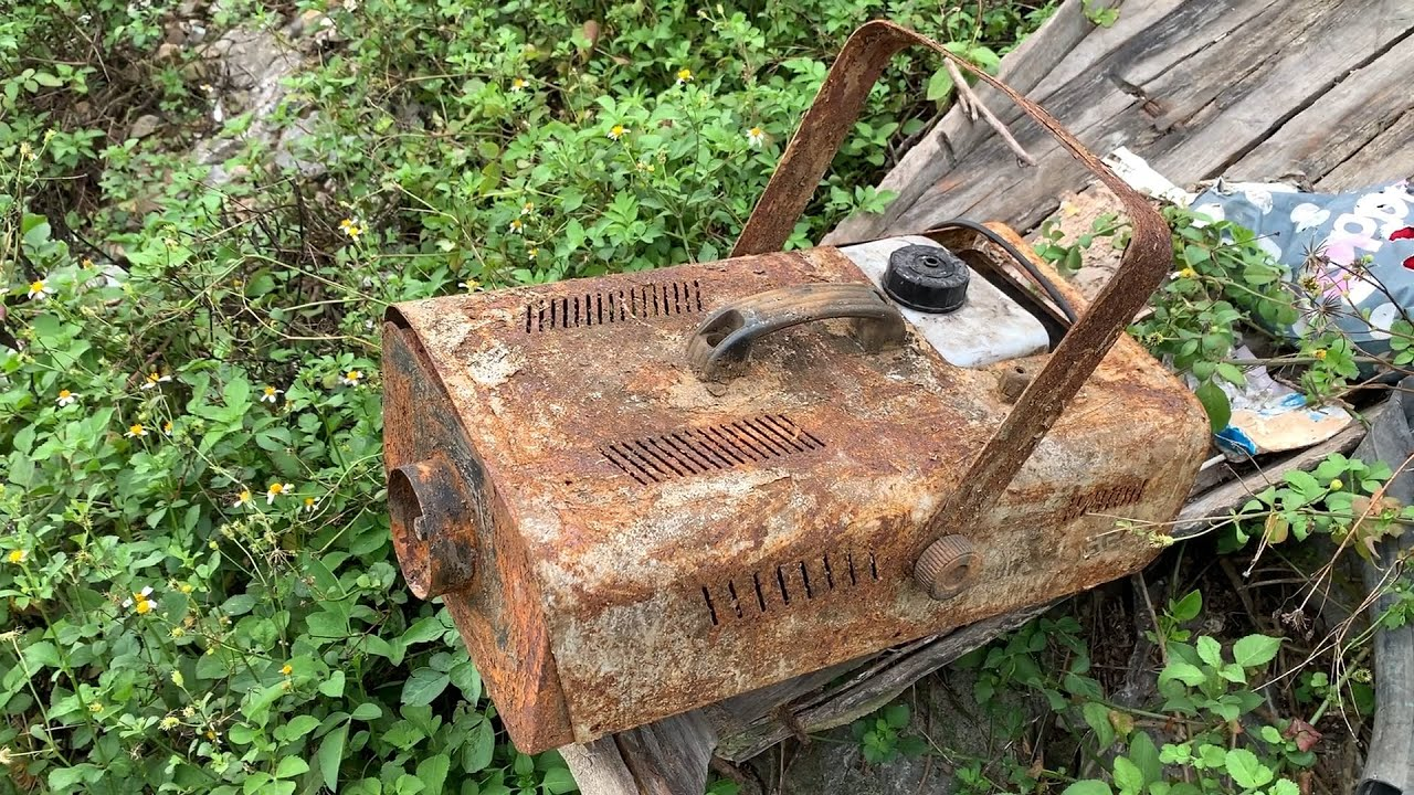 Restoration rusty  artificial Fog/Smoke machine | Restoring old Event/dj/wedding equipments