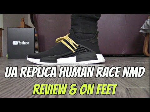 Best Replica Boost NMD Human Race Black at yeezys cc {Review & On Feet}