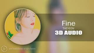 3d audio fine   taeyeon