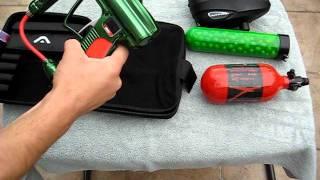 2011 green angel fly SB paintball gun shooting