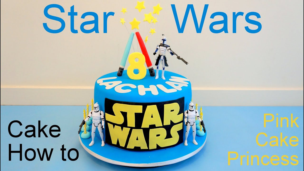 Star Wars Cake How to Make by Pink Cake Princess YouTube