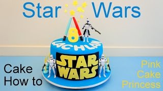 Star Wars Cake How to Make by Pink Cake Princess