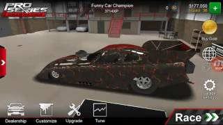 Mustang funny car tune pro series drag racing