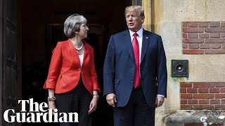 Awkward? Trump and May asked about president's explosive Sun interview