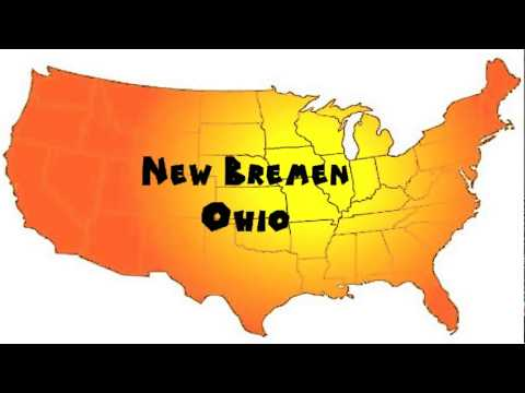 How To Say Or Pronounce Usa Cities New Bremen Ohio Youtube