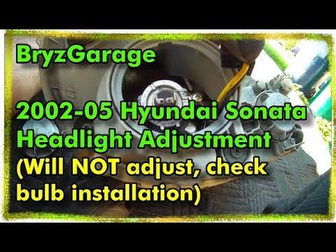 2003 sonata headlight bulb