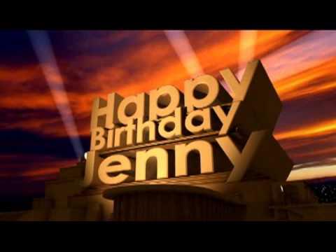 Happy Birthday Jenny Youtube