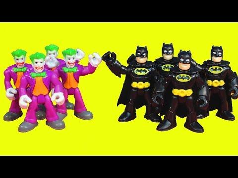 Imaginext Batman replicates himself to battle Joker Gotham city police jail
