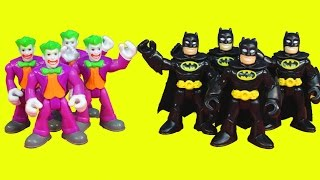 Imaginext Batman replicates himself to battle Joker Gotham city police jail thumbnail