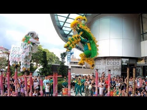 CNY 2019 ~ Acrobatic Lion Dance (双狮高桩表演 Múa Lân) by Khuan Loke 群樂 @ The Starling (21/1/2019)